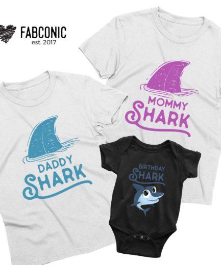 Birthday Shark Family Shirts, Animated Shark, Family Shirts