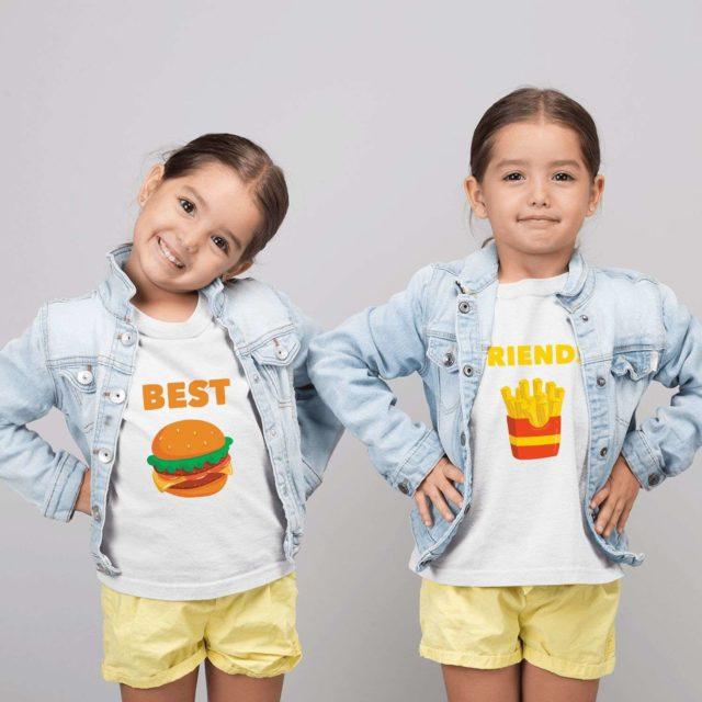 Best Friends Siblings Shirts, Burger Fries, Siblings Shirts