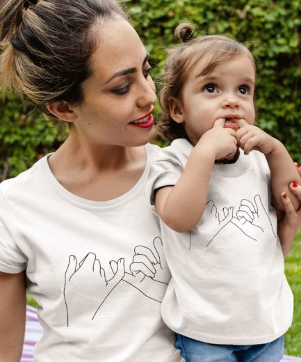 Pinky Promise Mommy and Me Shirts, Mother & Kid Shirts