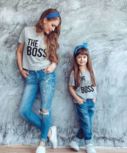 The Boss The Real Boss, Family Shirts, Matching Shirts for Family, Funny Gift for Family