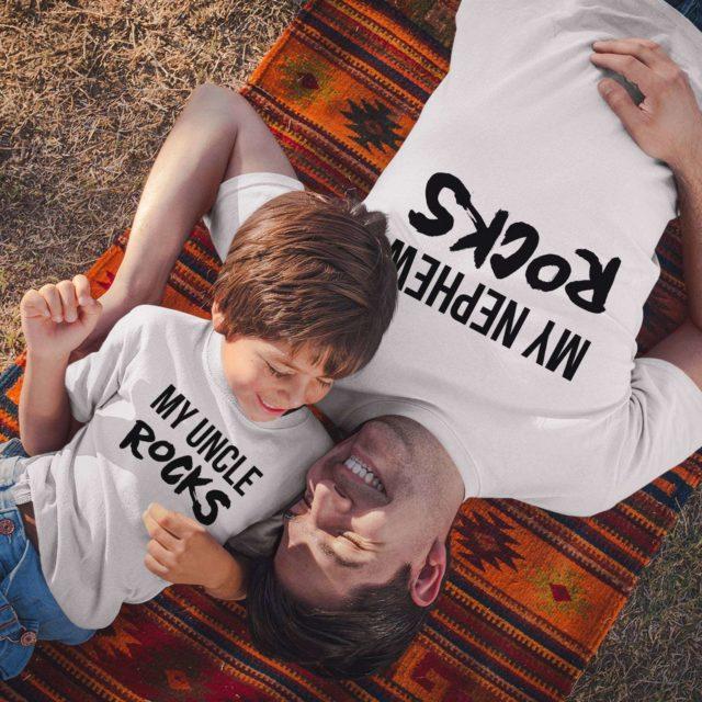 My Uncle Rocks Shirt, My Nephew Rocks, Matching Family Shirts
