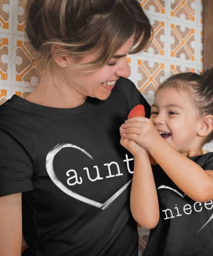 Aunt Niece Gift, Half Heart, Family Shirts, Matching Aunt and Niece