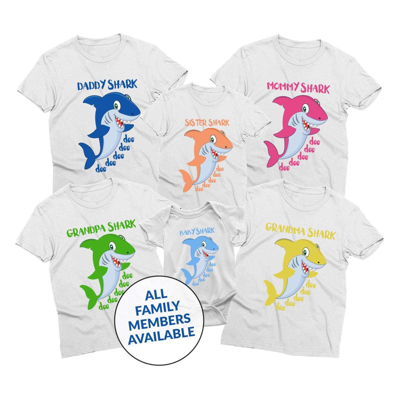 19d9c0d3b8d86 Daddy Shark, Mommy Shark, Baby Shark, Shark Family, Family Shirts ...