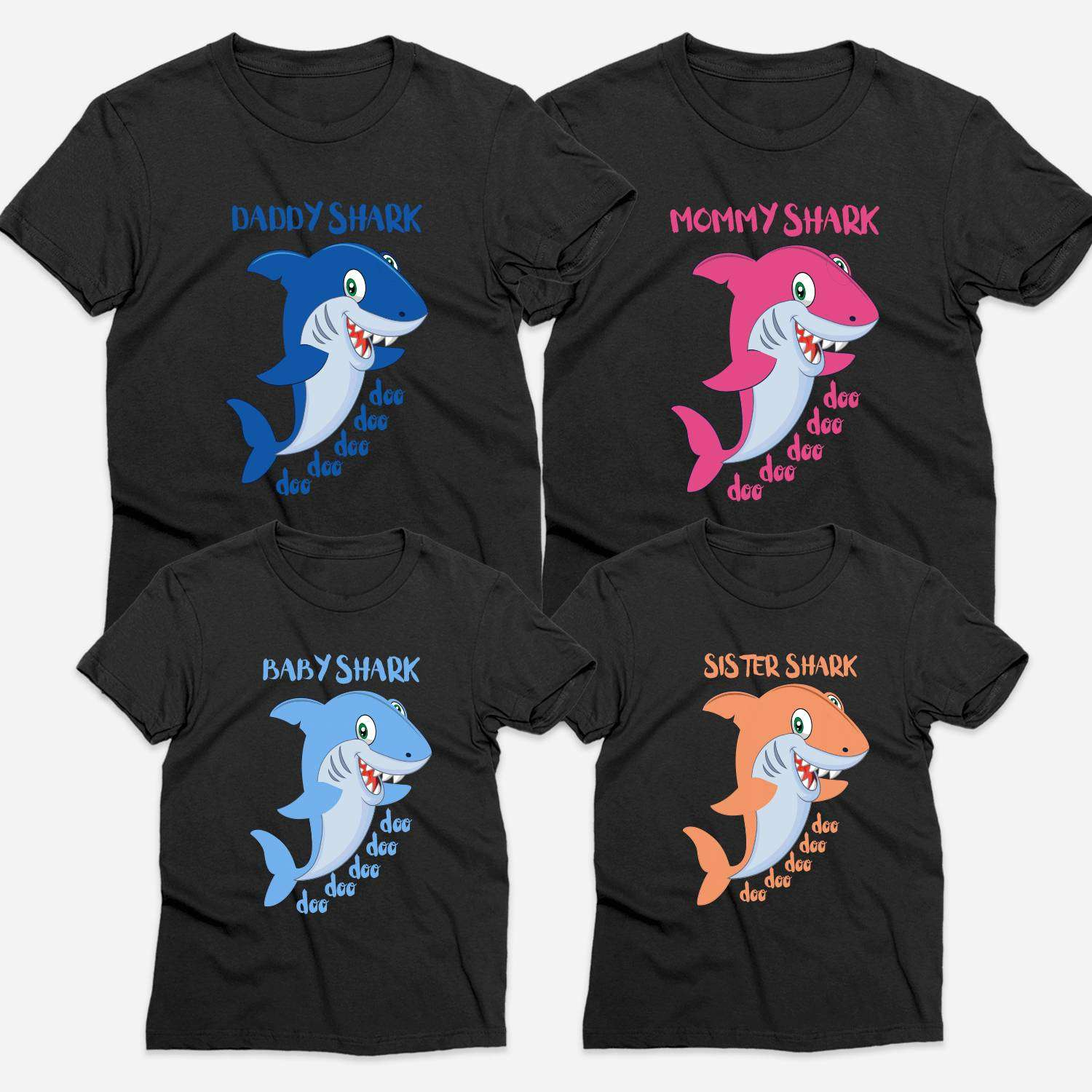 0f774742 Daddy Shark, Mommy Shark, Baby Shark, Shark Family, Family Shirts ...