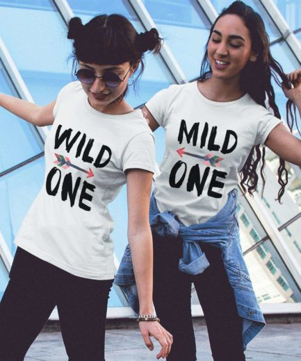 Sister Gift Idea, Mild One Wild One, Best Friends Shirts