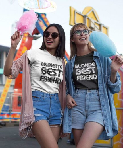 Blonde Brunette BFF Shirts, Blonde Best Friend Brunette Best Friend, Best Friends Shirts