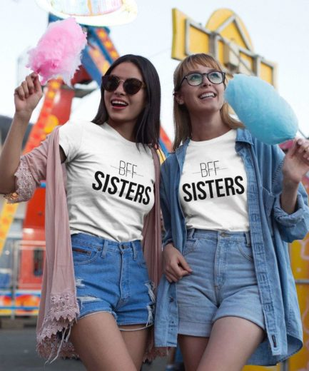 Gift for Bestie, BFF Sisters, Best Friends Shirts, Matching Bestie Shirts