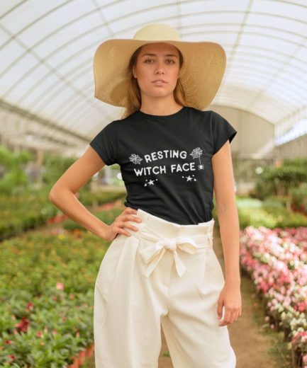 Resting Witch Face Shirt, Halloween Shirts, Funny Halloween Womens Shirt