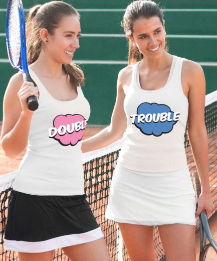 Double Trouble Tanks, Best Friends Tank Tops, Matching BFF Tanks