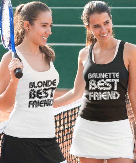 BFF Tanks, Brunette Best Friend, Blonde Best Friend, Best Friends Tank Tops