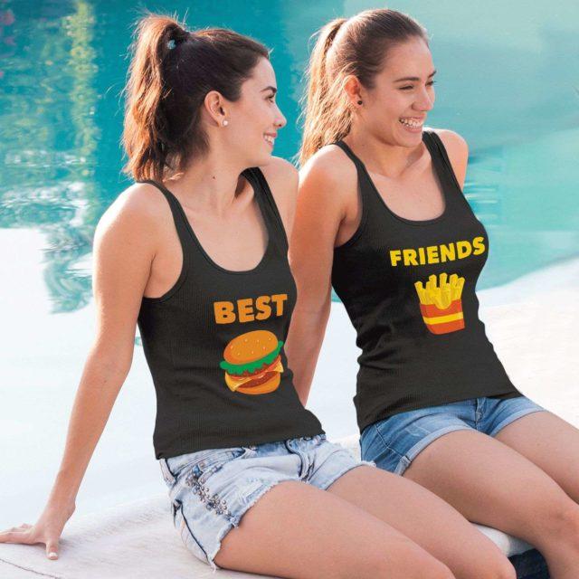 Best Friends Tops, Burger Fries, Matching Best Friends Tanks