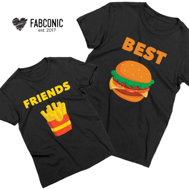 Father Kid Shirts, Best Friends, Burger Fries, Matching Father & Son Shirts
