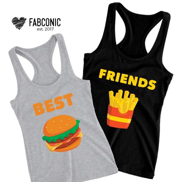 Best Friends Tank Tops,Best Friends, Burger Fries