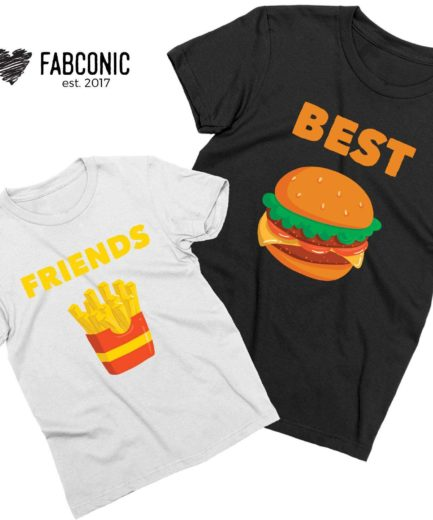 Best Friends Siblings Shirts, Burger Fries, Siblings Shirts