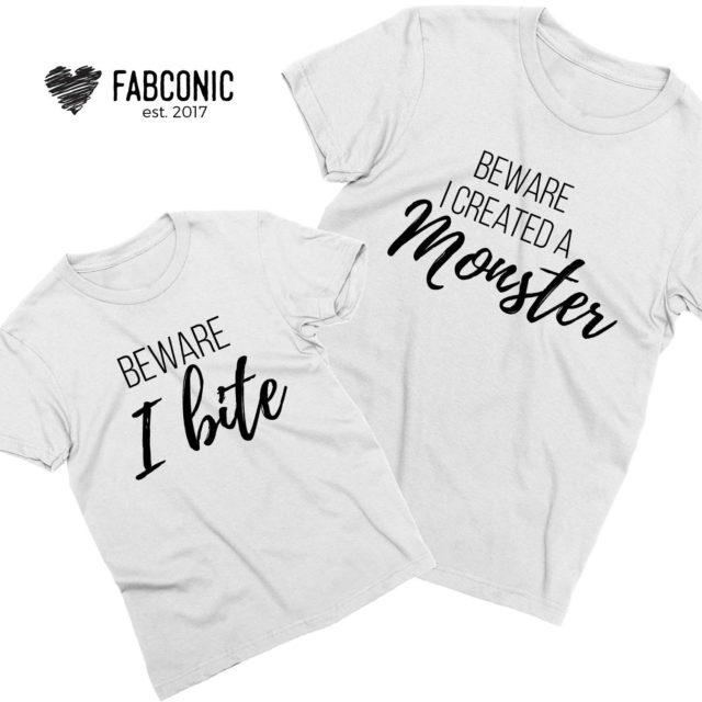 Funny Monster Shirts, Beware I created a monster shirt, Beware I bite
