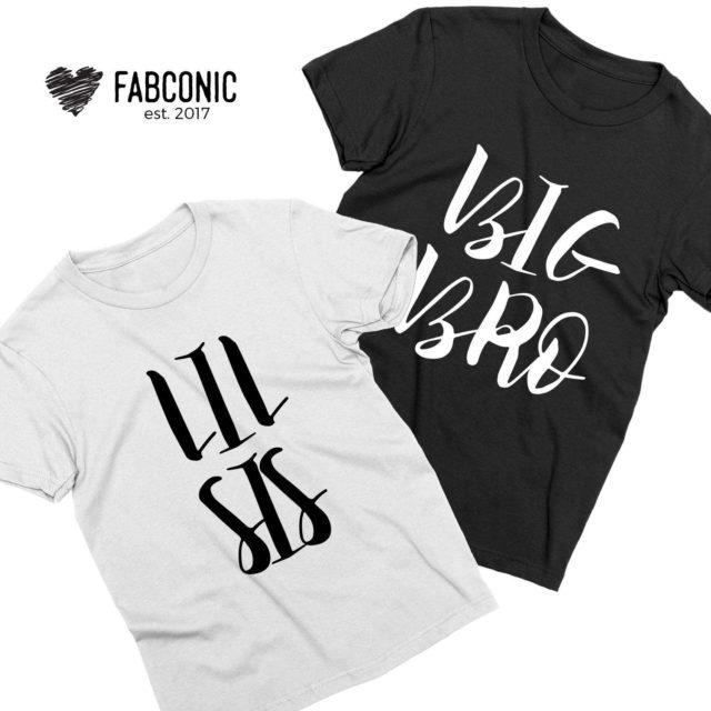 Brother Sister Matching Shirts, Big Bro Lil Sis, Thin Line, Sibling Matching Shirt