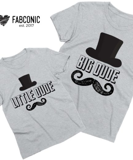 Big Dude Little Dude Shirts, Father & Kid Shirts, Father's Day Gift