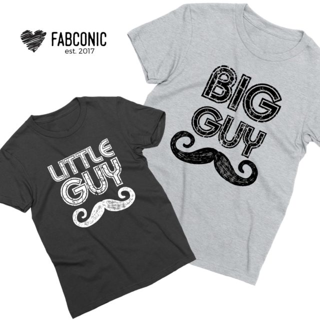 Big Guy Little Guy Shirts,Father & Kid Shirts, Family Shirts