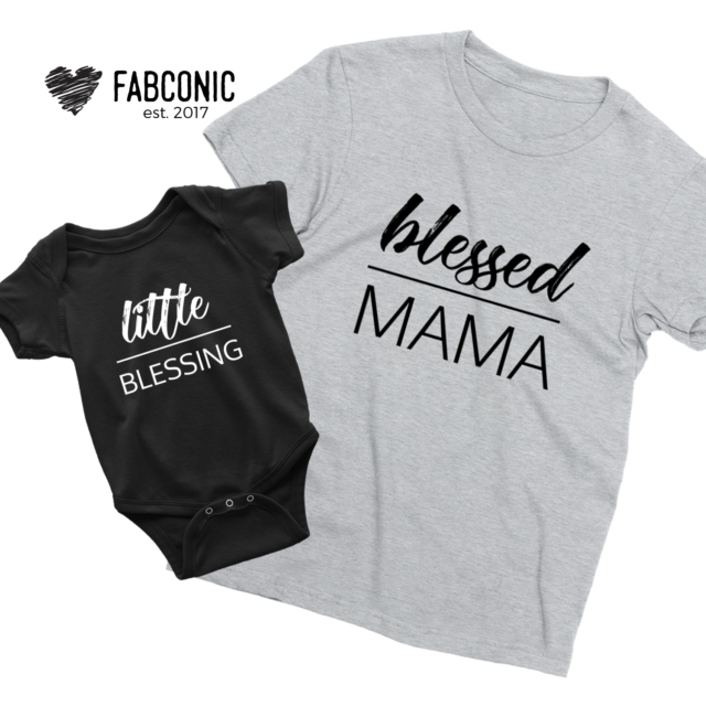 Blessed Mama Little Blessing Shirts, Mommy and Me