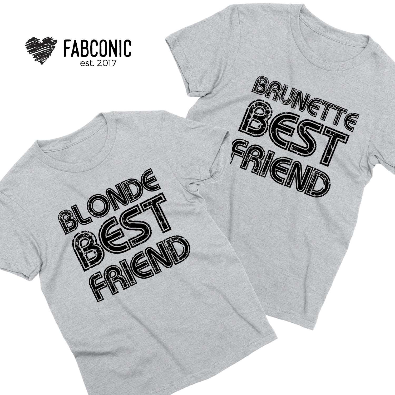 74629c52 Blonde Brunette BFF Shirts, Blonde Best Friend Brunette Best Friend, Best  Friends Shirts