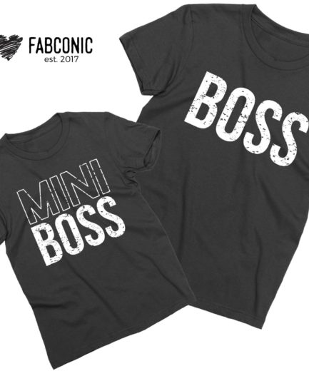 Boss Mini Boss Shirts, Daddy and Me, Family Shirts