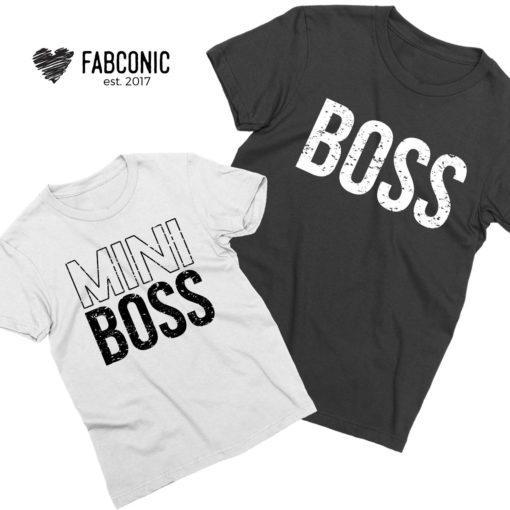 Boss Mini Boss Shirts, Daddy and Me, Family Shirts