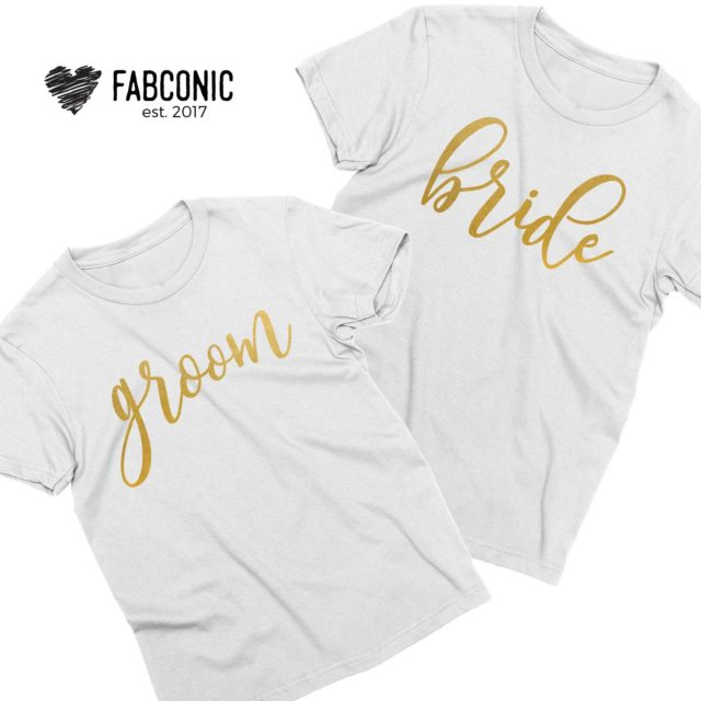 Bride Groom Shirts, Matching Couple Shirts, Anniversary Shirts