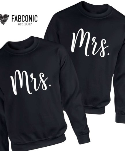 Mrs and Mrs Sweatshirts, Matching Couple Sweatshirts, LGBT Sweatshirts