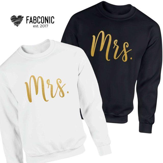 Mrs and Mrs Sweatshirts, Matching Couple Sweatshirts, LGBT Sweatshirts