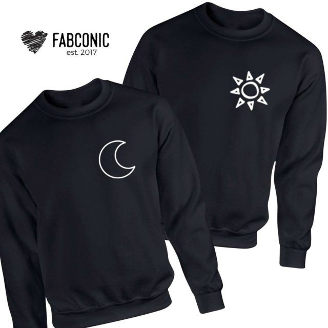 Moon Sun Couple Sweatshirts, Matching Sweatshirts, Gift for Anniversary
