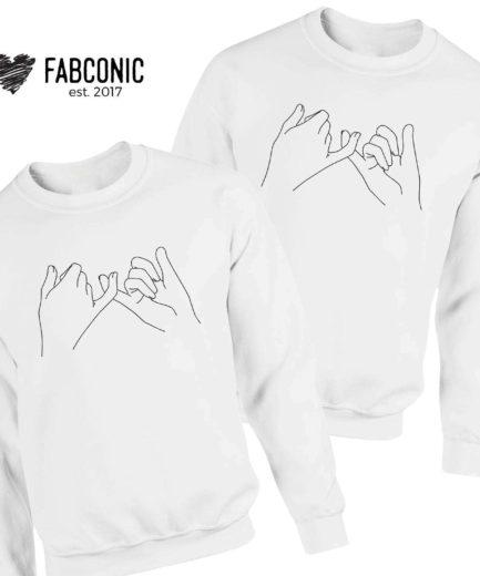 Pinky Promise Couple Sweatshirts, Couples Gift, Pinky Promise Couples Hoodies