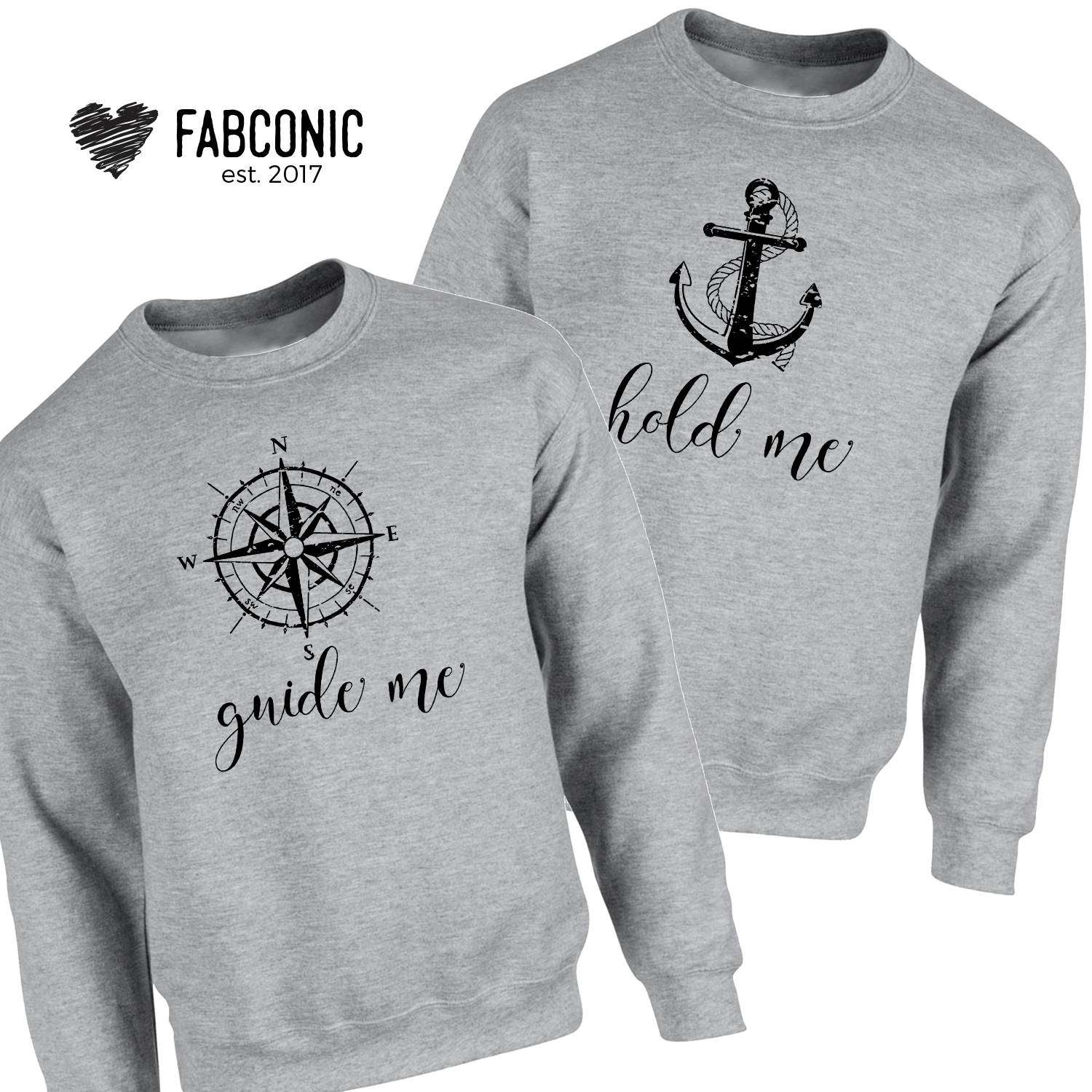 reputable site a30b7 b5c70 Couple Sweatshirts, Guide Me Hold Me Sweatshirts, His and Hers Sweaters