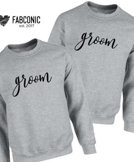Gay Husband Gift, Groom Groom, Matching Couple Sweatshirts