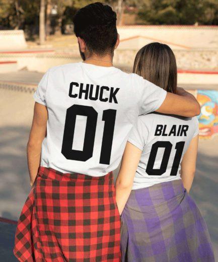 Chuck 01 Blair 01, Couple Shirts, Matching Couple shirts, Couple gift