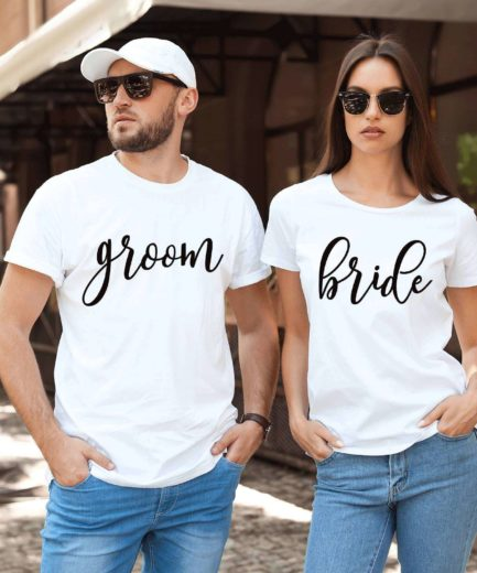 Bride Groom Shirts, Matching Couple Shirts, Anniversary Shirts