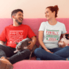Family Christmas Shirts, Custom Family Name Couple Shirts
