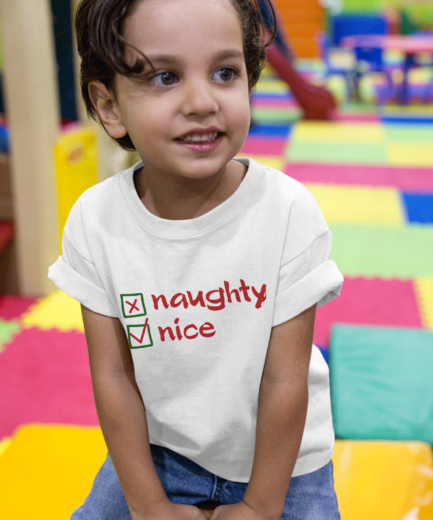 Naughty Nice Kids Shirt, Christmas Family Shirts, Christmas Gift