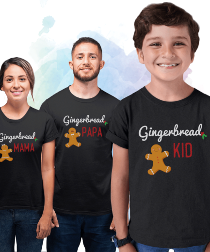 Gingerbread Christmas Family Shirts, Family Christmas Gifts