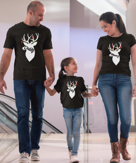 Deer Christmas Family Shirts, Matching Christmas Shirts for Family