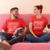 Hubby Wifey Christmas Shirts, Couple Shirts, Matching Christmas Shirts