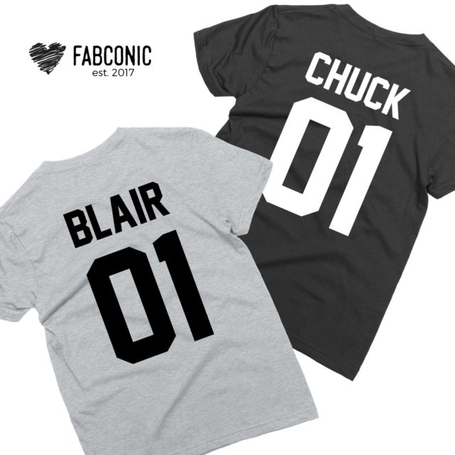 Chuck 01 Blair 02, Couple Shirts, Matching Couple shirts, Couple gift