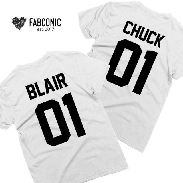 Chuck 01 Blair 01, Couple Shirts, Matching Couple shirts, Couple gift