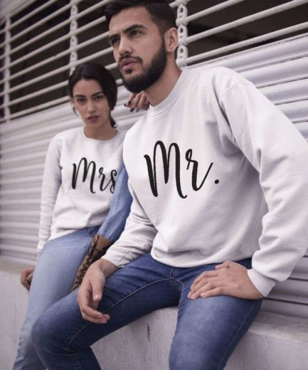 Mr Mrs Couple Sweatshirts, Matching Sweatshirts, Wedding Gift for Couple