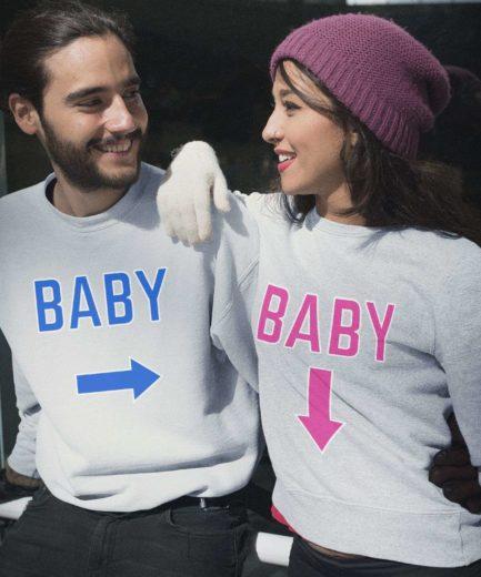 Pregnancy Announcement Sweatshirts, Baby Arrows, Family Sweatshirts