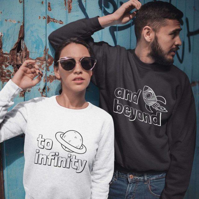 To Infinity and Beyond Sweatshirts, Couple Matching Sweatshirts, Couples Gift