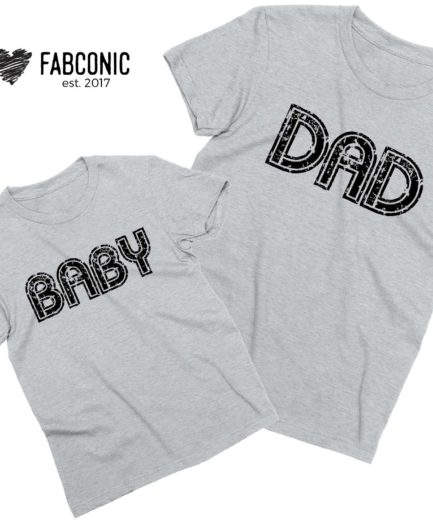 Dad Baby Shirts, Matching Father & Kid Shirts, Gift Idea for Father's Day