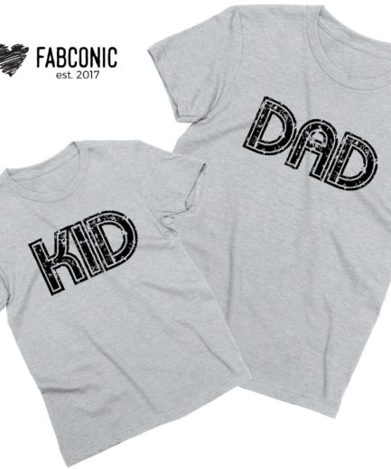 Dad Kid Shirts, Daddy and Me, Family Matching Shirts