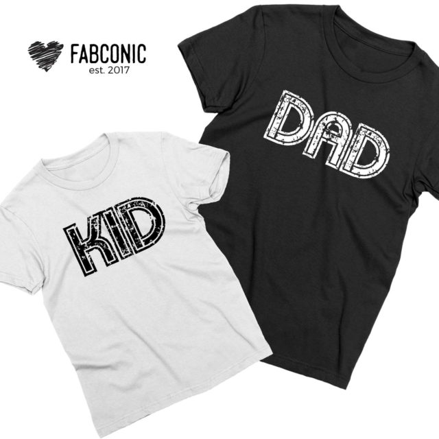 Dad Kid Shirts, Father's Day Gift, Matching Father & Kid Shirts