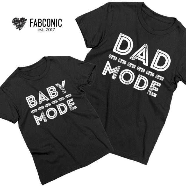 Matching Daddy Baby Shirts, Dad Mode, Baby Mode, Father & Kid Shirts