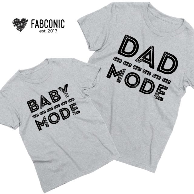 Matching Daddy Baby Shirts, Dad Mode, Baby Mode, Father & Kid Shirts